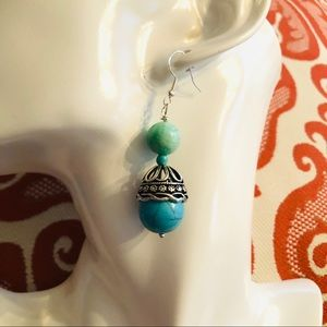 Frontrow.style Jewelry - Sterling Silver Earrings Howlite & Amazonite